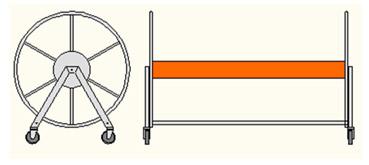 Carrello avvolgi corsia in acciaio AISI 304
