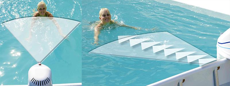 Nuoto controcorrente azuro jet 50 per piscine fuoriterra e for Luci per piscina fuori terra