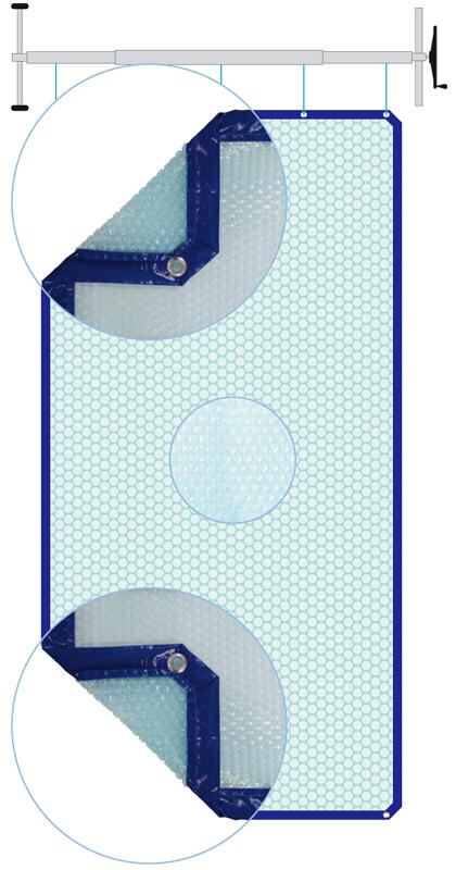 Copertura isotermica a bolle per piscina