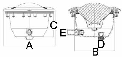 dimensione proiettore serie MT-3
