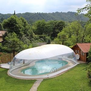 Copertura gonfiabile cristalball wht per piscina prezzo - Piscina gonfiabile terrazzo ...
