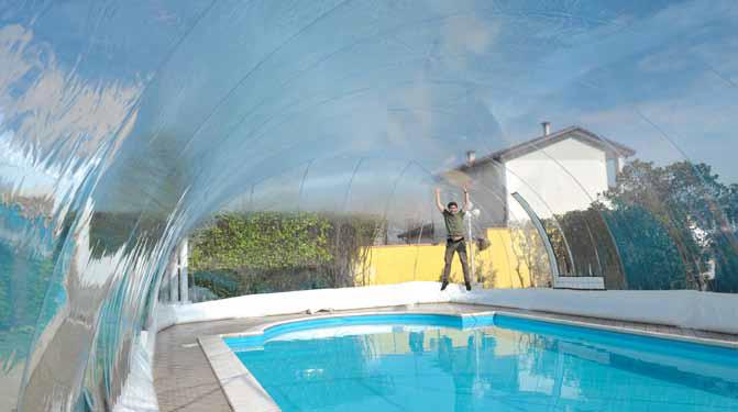 Copertura a cupola piscina