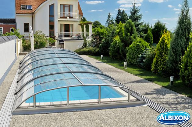Copertura telescopica piscina Dallas