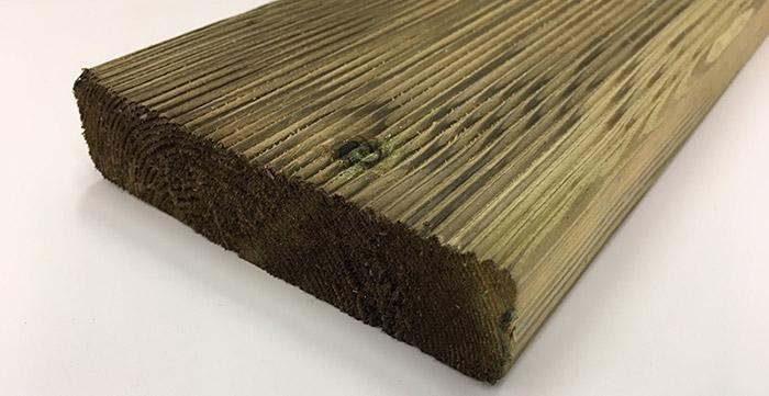 Dettaglio listone in legno di pino ECO 2,8 x 11,5 cm
