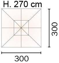 ombrellone SATURNO quadrato