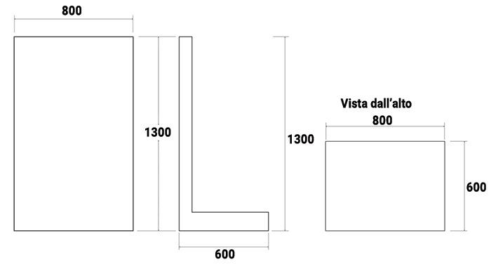 Dimensioni Gruppo filtrante a cartuccia PALLET con filtro PENTAIR da 11,4 mc/h