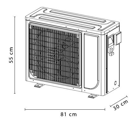 dimensioni pompa di calore EcoPAC