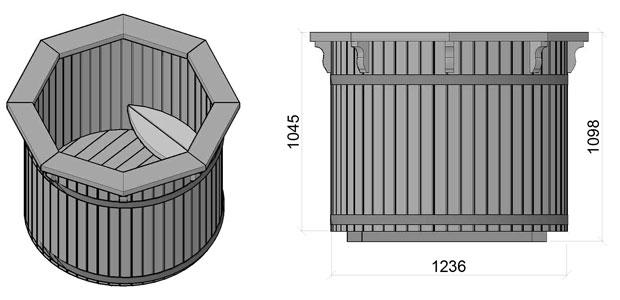 dimensioni tinozza in legno