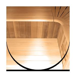 Legno di cedro rosso canadese Sauna Multiwave