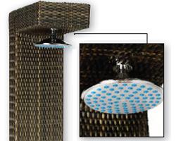 Doccia per piscina KEOPE NEW - QUADRA in alluminio rivestito in polietilene HDPE