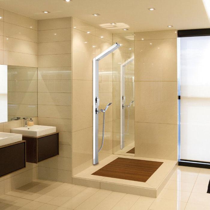 Doccia da interno saturno fissaggio a muro - Siliconare box doccia interno o esterno ...
