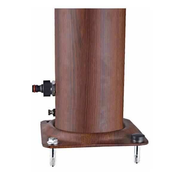 Doccia Solare ALLUMINIO con miscelatore e lavapiedi - capacità 32 litri