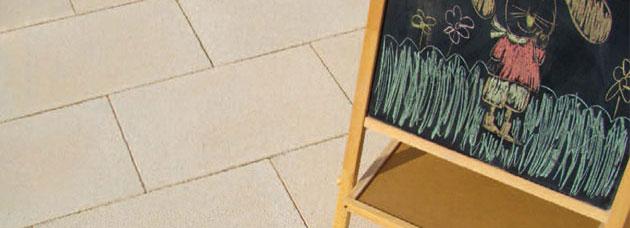 Piastrella Doris in pietra naturale made in italy gialla