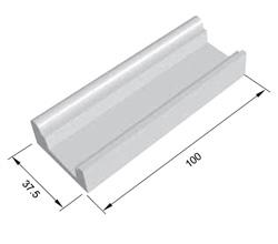 Bordo sfioratore Standard dritto