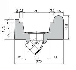 Bordo sfioratore Standard  dritto con piletta