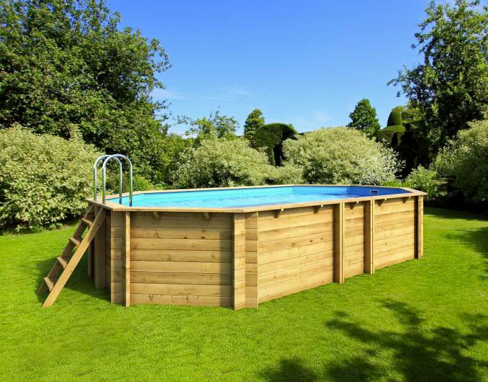Piscina in legno fuori terra EcoWood 640 - 6,27 x 3,86 x h 1,20 m