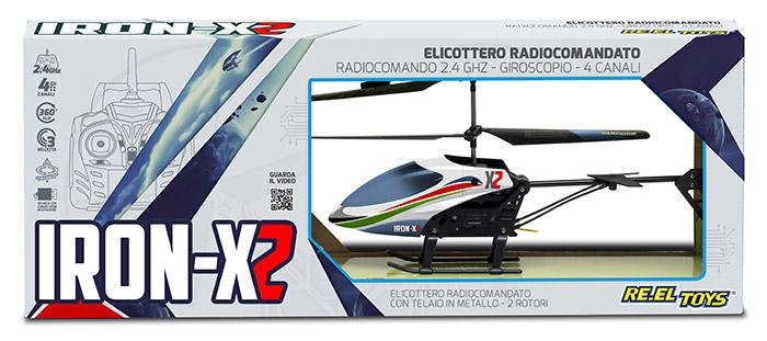 Elicottero radiocomandato IRON X2 RE.EL TOYS a 2.4 GHz