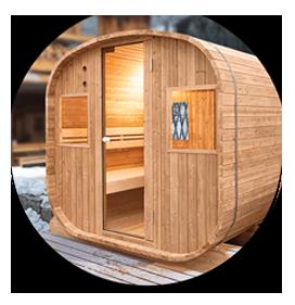 Design tradizionale per sauna Barrel a vapore