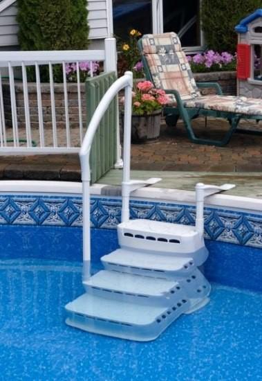 scaletta per piscina interrata e fuori terra