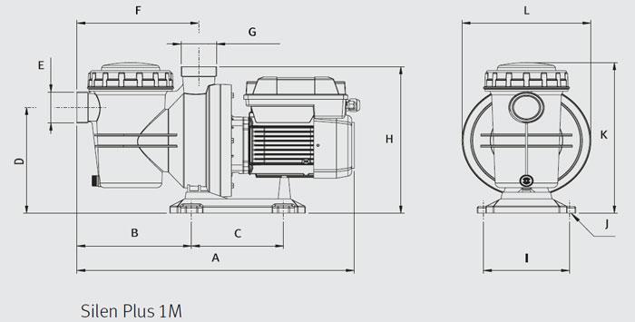 Pompa Piscina a velocità variabile Espa per filtrazione SILEN PLUS 1M - 1 HP Raccordi 5 cm