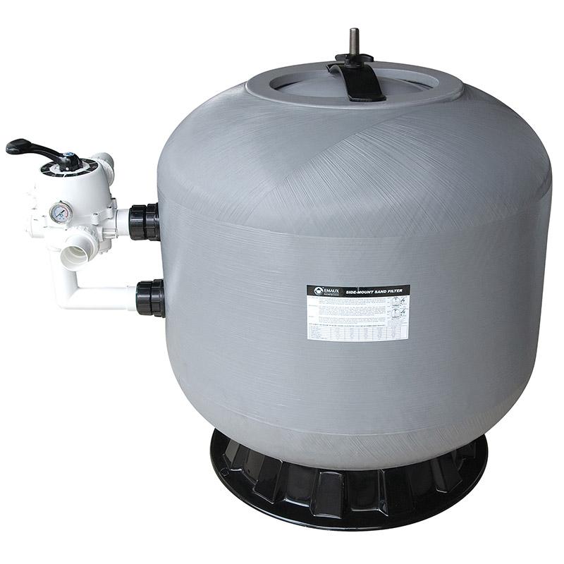 Filtro a sabbia bobinato in fibra di vetro EMAUX - fino a 58,50 m³/h con valvola laterale