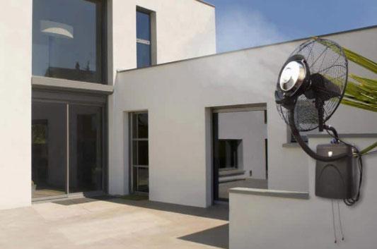 Ventilatore nebulizzatore da parete