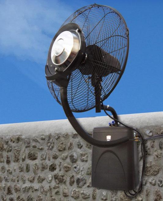 Ventilatore nebulizzatore da parete fresh per ambienti - Ventilatore da parete ...