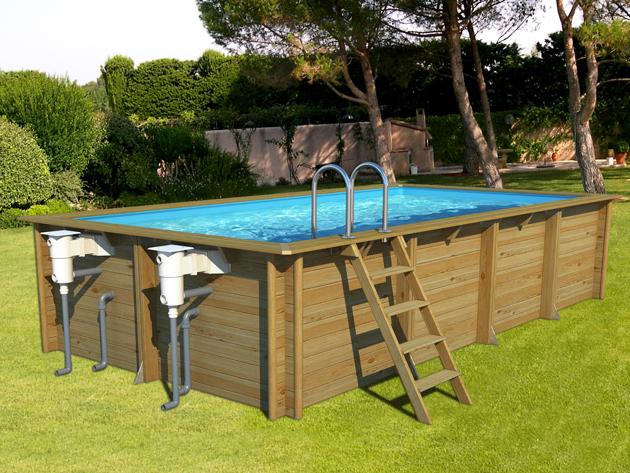 piscina in legno fuori terra odyssea 6x3 rettangolare 6