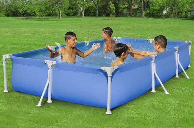 Piscina fuori terra rettangolare garden 320 x 160 h55 cm - Piccola piscina ...
