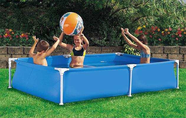 Piscina fuori terra rettangolare garden 250 x 160 h55 cm - Piccola piscina ...