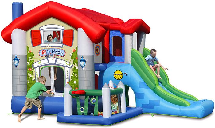 Gioco gonfiabile da esterno BIG HOUSE con vaschetta di palline