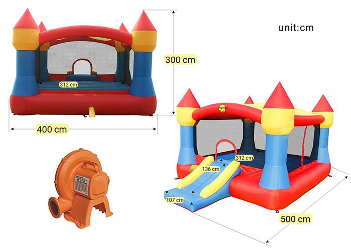 Dimensioni Gioco gonfiabile per bambini da giardino CASTELLO XXL