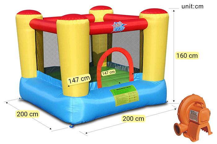 Dimensioni Castello gonfiabile per bambini da esterno SALTERELLO TOP