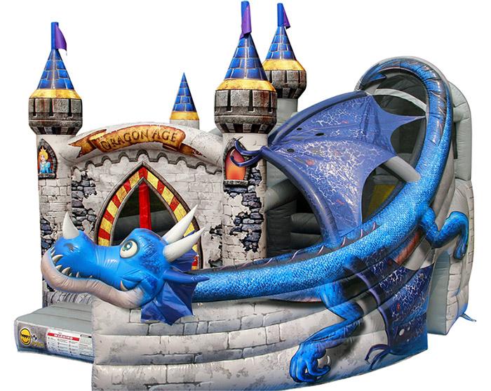 Castello gonfiabile professionale per bambini DRAGON AGE