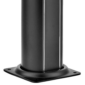 Doccia Solare ALLUMINIO antracite - con miscelatore nebulizzatore e lavapiedi - capacità 32 litri