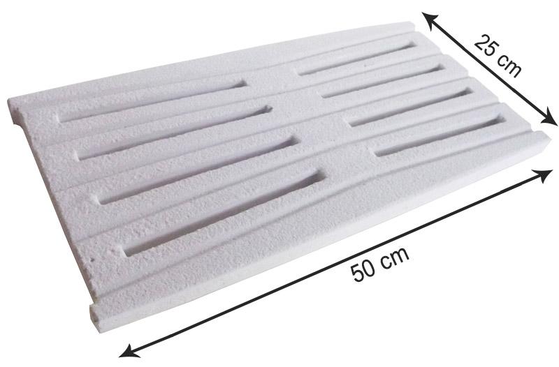 Griglia per bordo sfioratore Bianco sabbiato