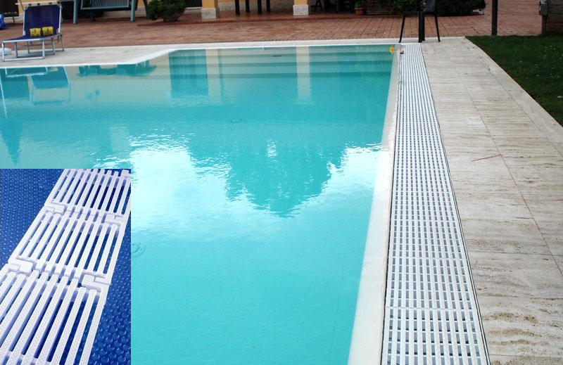 Griglia Longitudinale in polipropilene per piscina bordo a sfioro