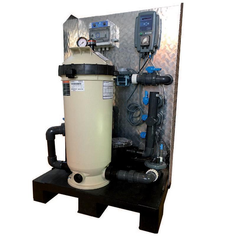 Gruppo filtrante a cartuccia PALLET con filtro PENTAIR da 11,4 mc/h