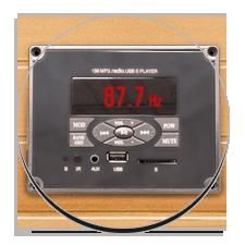 Equipaggiamento Audio per sauna a raggi infrarossi