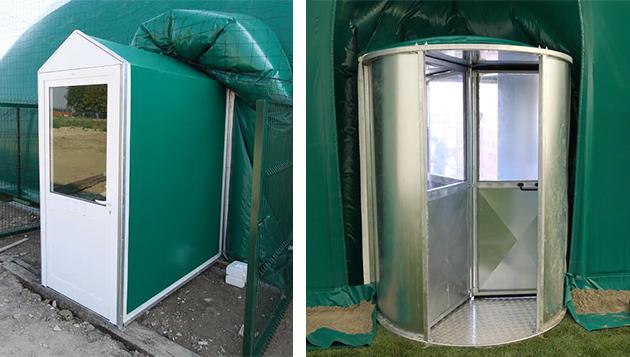Ingresso a Cabina o con Porta Girevole copertura gonfiabile Airglobe Solar
