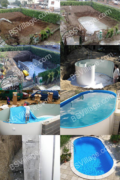 installazione delle piscine Olivia