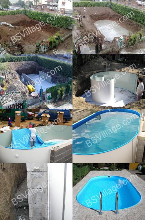 Scavo - installazione piscina interrata