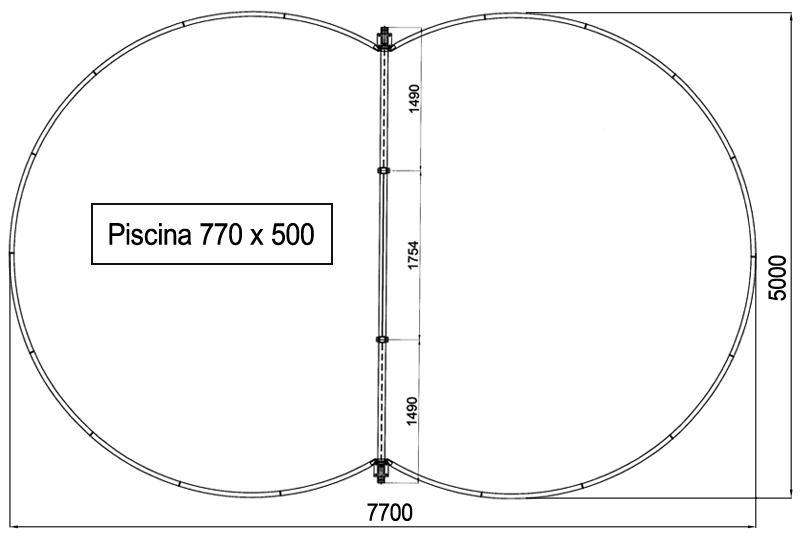 Piscina interrata ISABELLA 770 L
