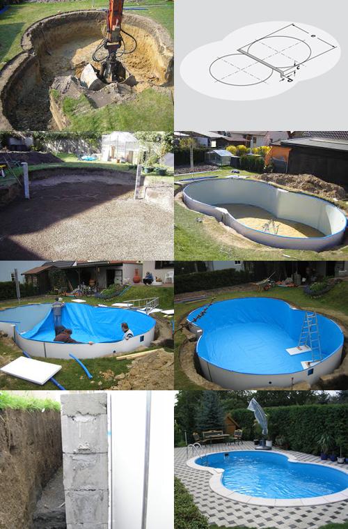 Installazione piscina interrata ISABELLA