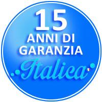 logo garanzia 15 anni piscine Italica
