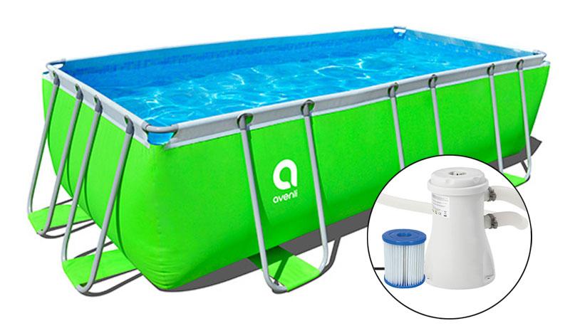 Piscina fuori terra rettangolare green jilong 4 00 x 2 00 for Accessoire piscine jilong