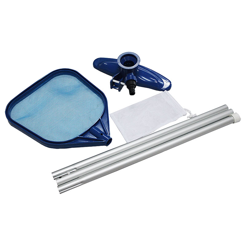 Kit di pulizia piscine per mantenimento con asta telescopica 249 cm