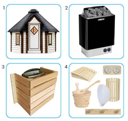 Sauna tradizionale da esterno LOKI KIT PRO CON RISCALDATORE ELETTRICO