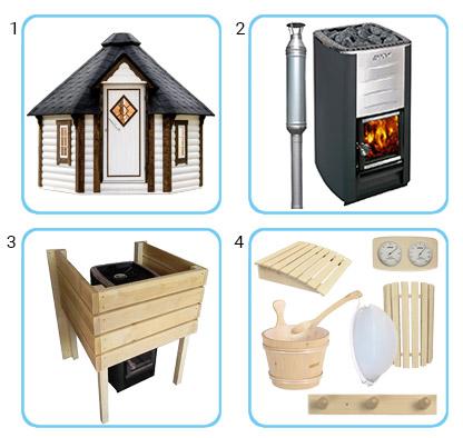 Sauna tradizionale da esterno LOKI KIT PRO CON STUFA A LEGNA