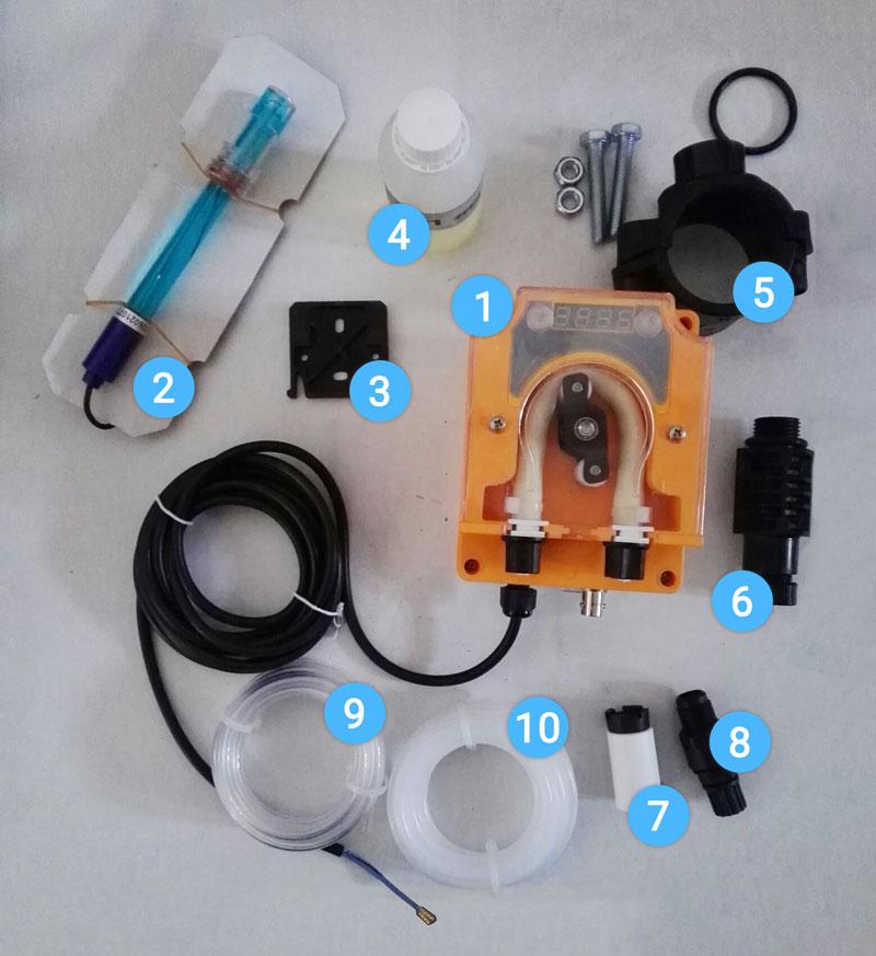 Pompa dosatrice redox cloro serie nike per piscina fino a for Cloro per piscine